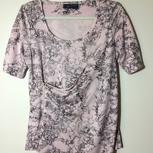 Urban Outfitters Top. Pale Pink Abstract Toile.